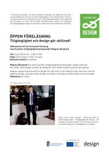 Inbjudan tillgänglighet och design_Mittuniversitetet Sundsvall