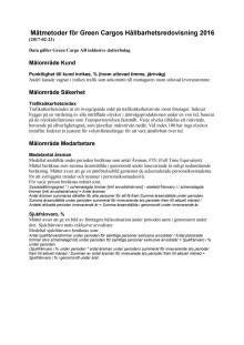 Mätmetoder för hållbarhetsredovisning 2016