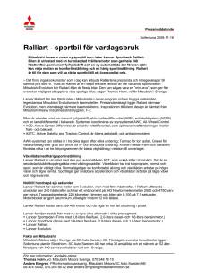 Ralliart - sportbil för vardagsbruk