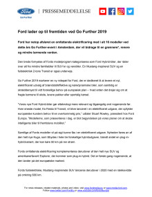 Ford lader op til fremtiden ved Go Further 2019