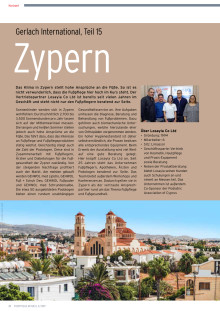 Gerlach auf Zypern: Mediterranes Klima bringt Fußpflege auf Kurs