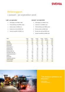 Svevia kvartalsrapport 3 2016