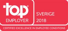 Saint-Gobain Sweden AB återigen utsedd till Top Employer