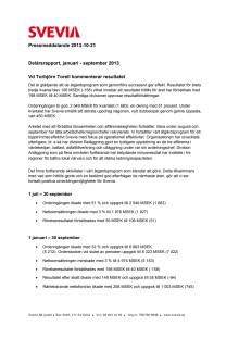 Svevia delårsrapport Q3