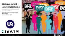 UR:s Novus-undersökning: Skrivkunnighet – lärare i högskolan