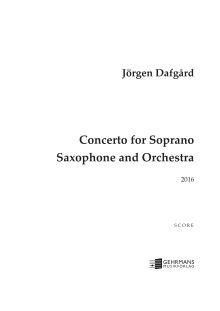 Dafgård-Konsert för sopransaxofon-partitur