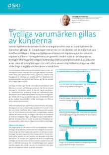 Svenskt Kvalitetsindex om energibranschen 2019