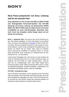 Neue Party-Lautsprecher von Sony: Leistung satt für die nächste Feier