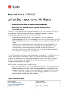 Johan Zethraeus ny vd för Hjerta
