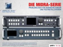 Analog Way Midra-Serie – Problemlöser für Veranstaltungen und Festinstallationen