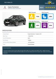 Cupra Formentor Euro NCAP datasheet March 2021