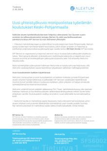 Uusi yhteistyökuvio monipuolistaa työelämän koulutukset Keski-Pohjanmaalla