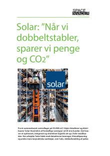 Solar sparer penge og CO2 med innovativt pallestativ
