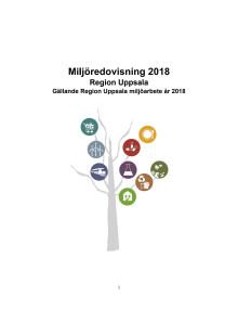 Miljöredovisning Region Uppsala 2018