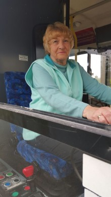 Pensioner drives her long lasting ambition
