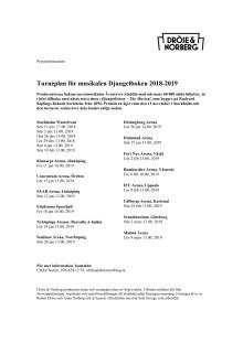 Turnéplan för musikalen Djungelboken 2018-2019