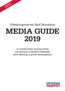 Media Guide, Göteborgsvarvet Half Marathon 2019