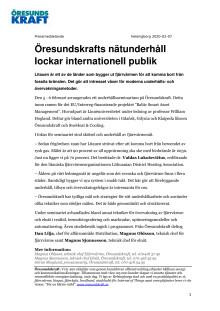 Öresundskrafts nätunderhåll lockar internationell publik