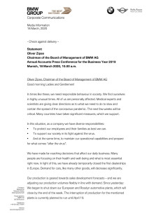 AAPC 2020: Statement Oliver Zipse