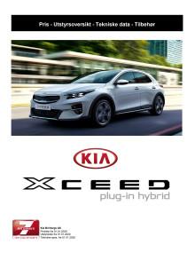 Priser og tekniske spesifikasjoner Kia XCeed Plug-in Hybrid