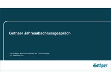 Präsentation Jahresabschlussgespräch Gothaer Konzern 15.12.2020