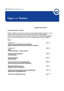 Tipps und Themen 1-2018