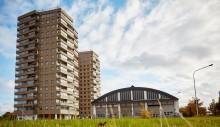 Inflyttningen har startat i 17-våningshusen i kv Spårvagnshallarna