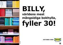BILLY, världens mest mångsidiga bokhylla, fyller 30!
