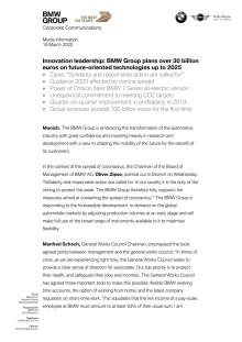 AAPC 2020: BMW Group press release