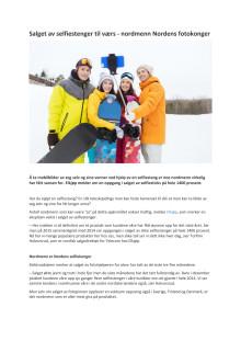 Salget av selfiestenger til værs - nordmenn Nordens fotokonger
