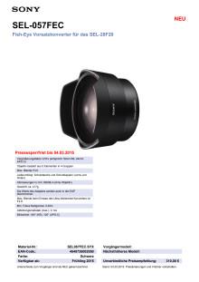 Datenblatt SEL-057FEC von Sony