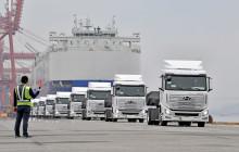 Verdens første tunge hydrogenelektriske lastebil er nå på vei til Europa