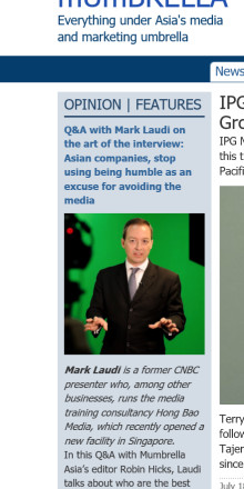 HBM's Mark Laudi featured in today's Mumbrella