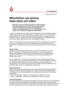 Mitsubishis nya pickup både stark och säker