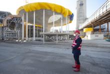 Bergfest am künftigen Stuttgarter Hauptbahnhof: Betonage der 14. Kelchstütze mit OB Dr. Nopper und Architekt Ingenhoven
