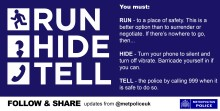 Run, Hide, Tell safety advice for students