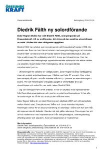 Diedrik Fälth ny solordförande