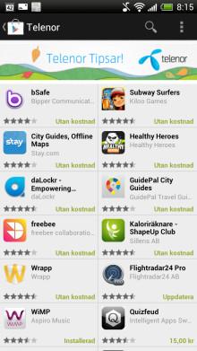 Telenors kunder får egen apphylla i Google Play™