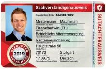 DER FÄLSCHUNGSSICHERE SACHVERSTÄNDIGENAUSWEIS FÜR 2019