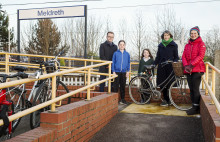 Boost for cyclists using Meldreth station