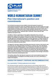 WHS Plan International's position and commitments