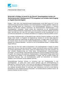 Gewerbegebiete in Rodgau bekommen flächendeckendes Glasfasernetz (FTTH)