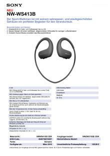 Datenblatt NW-WS413B von Sony_Schwarz