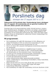 Porslinets dag - program