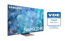 Samsungs Neo QLED 2021 tar emot branschens första 'Eye Care'-certifiering