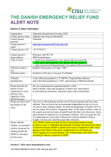 2020-009 Alert Note from NIF