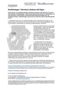 Värdebarometern 2017 Värmlands län