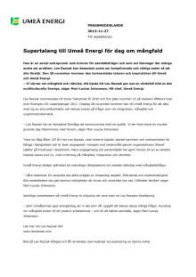 Supertalang till Umeå Energi för dag om mångfald