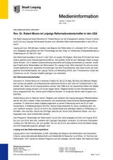Houstener Reverend Dr. Robert Moore wird offizieller Reformationsbotschafter