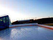 Isbana på ny höjd i Hyllie